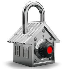 locked silver home
