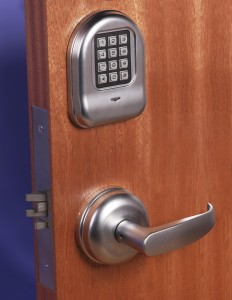 secure code lock door